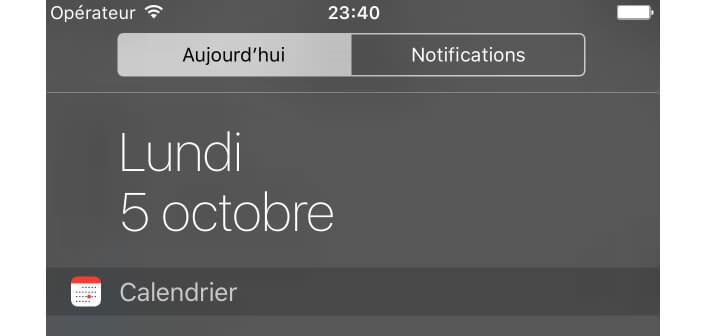 iPhone: modifier l'onglet Aujourd'hui