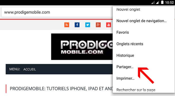 Partager une page web avec Offline Browser