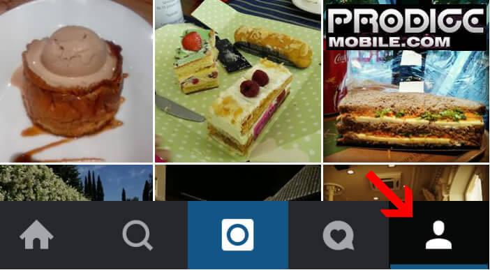 Accéder au profil Instagram depuis l'application Android