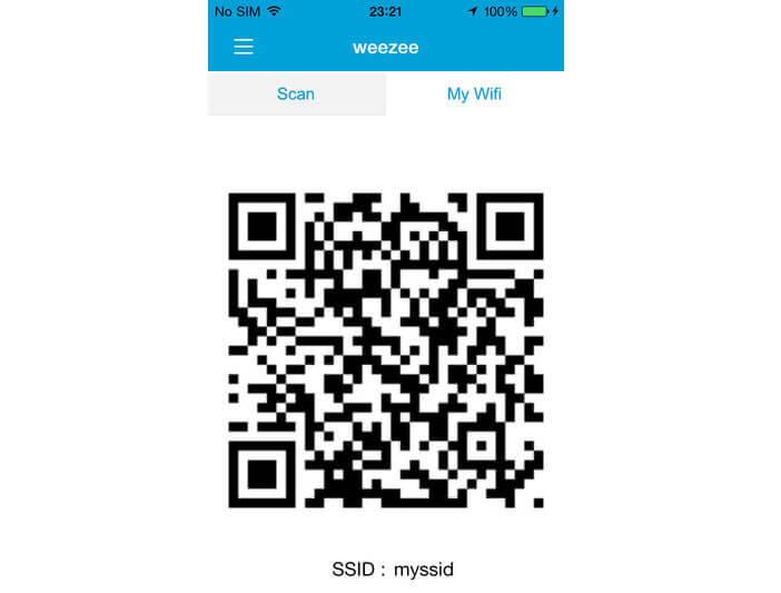 Qr code de la clé Wi-Fi