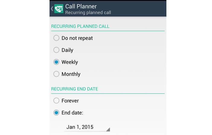 Rappel de vos appels téléphoniques