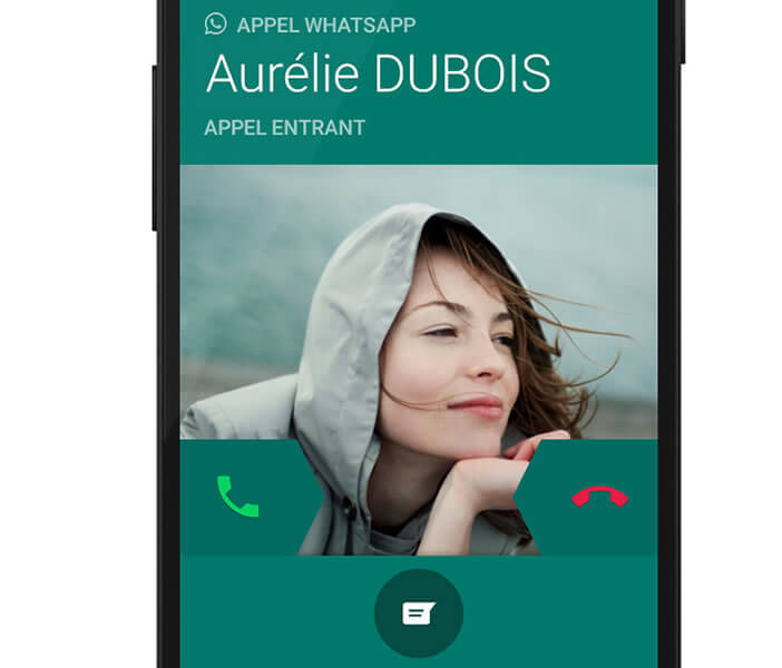 Lancer un appel audio avec l'application WhatsApp