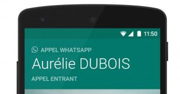 Passer des appels téléphoniques avec WhatsApp