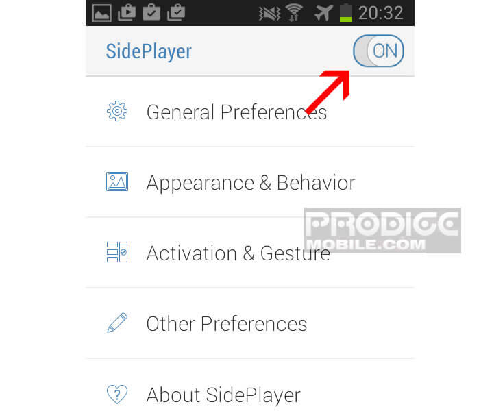 application SidePlayer
