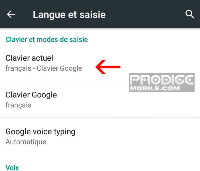 Définir un nouveau clavier sur un téléphone Android