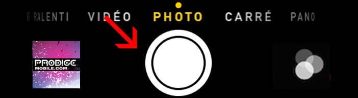 Appuyer sur le bouton déclencheur de l'appareil photo