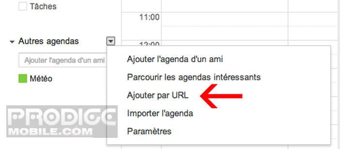 Ajouter agenda Facebook dans Google Calendar