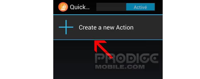 Ajouter une action dans QuickClick