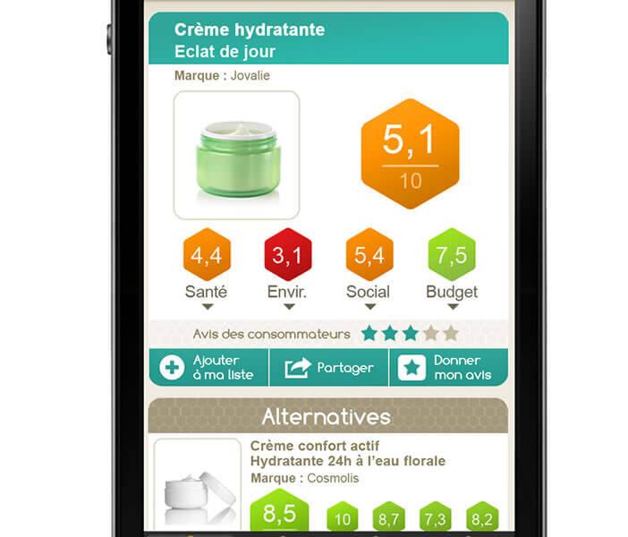 Noteo, application pour trouver des produits bons pour la santé et la planète