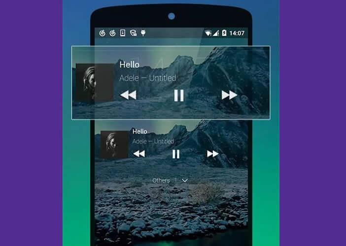 Contrôle du lecteur audio depuis l'écran de verrouillage