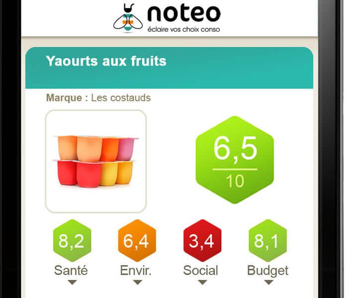 Fiche détaillée d'un yaourt aux fruits