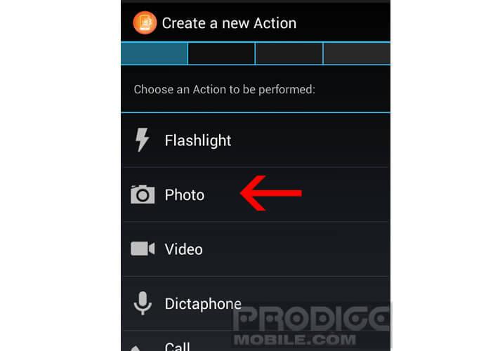 Créer un raccourci avec les boutons de volume de votre mobile