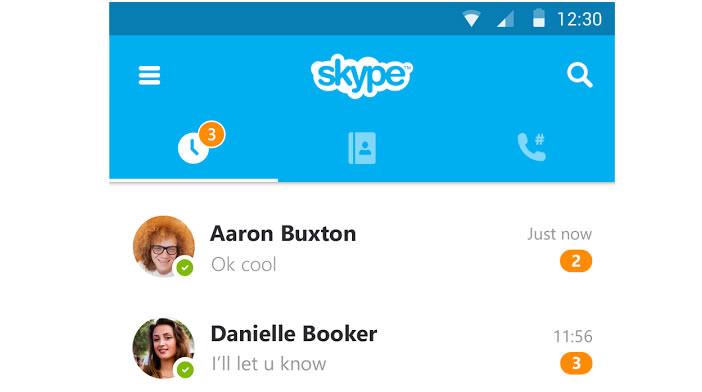 Lancer le répertoire téléphonique de Skype