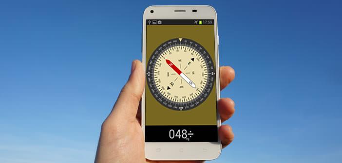 Application boussole stabilisée pour smartphone