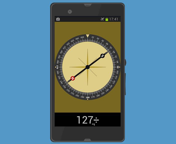 Boussole pour smartphone Android