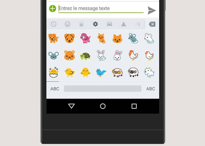 Activer les emojis sur le clavier Google