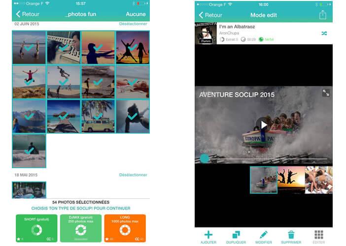 SoClip synchronise vos photos au rythme de la musique