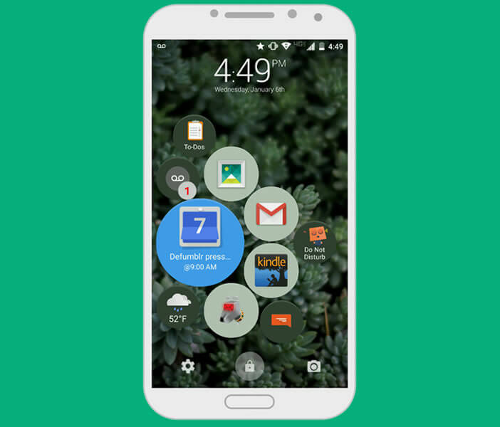 Application Lockscreen pour smartphone Android