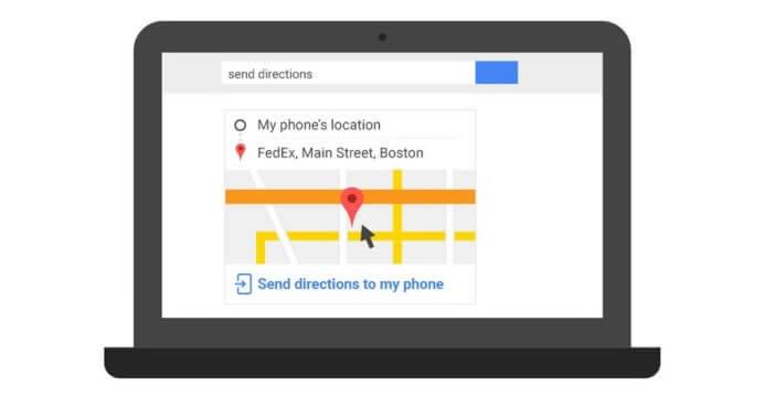 Envoyer votre traject directement sur votre mobile Android