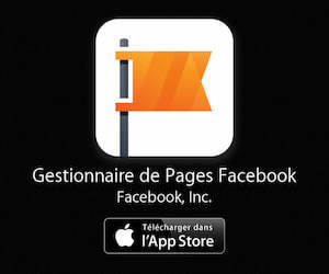 Gestionnaire page Facebook pour iPhone et iPad