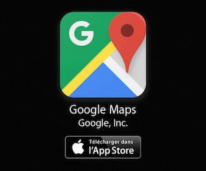 Google Maps à télécharger sur l'App Store