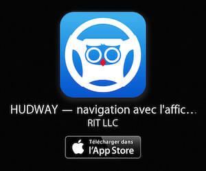 Hudway - Application de navigation avec affichage tête haute