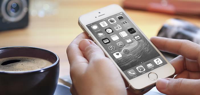 Activer le mode Nuances de gris de l'iPhone
