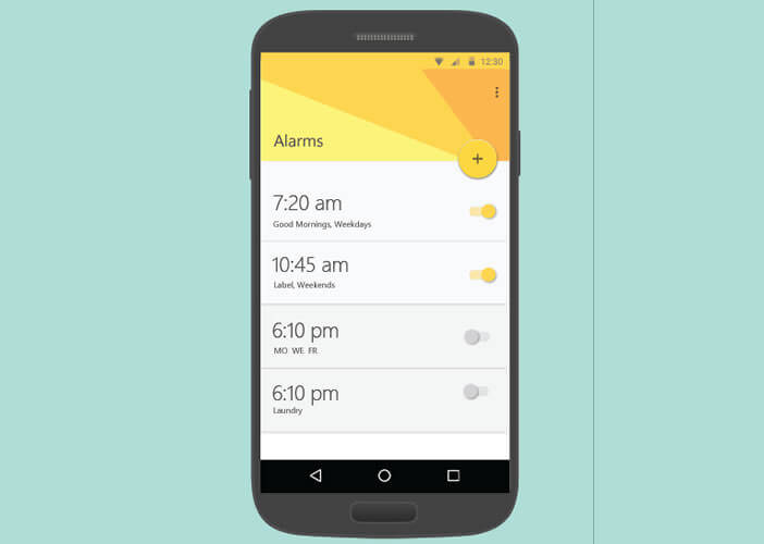 Application Mimicker Alarm pour smartphone Android