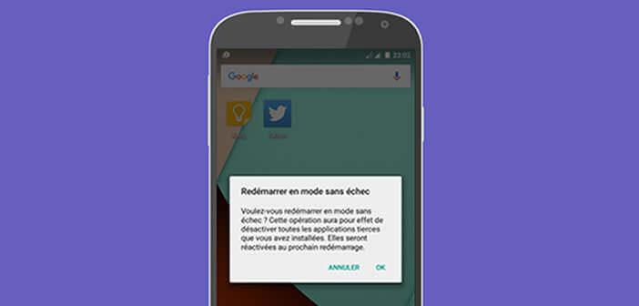 Activer le mode sans échec sur un mobile Android