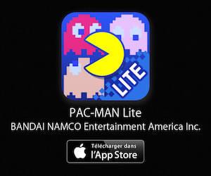 Pac Man à télécharger depuis l'App Store