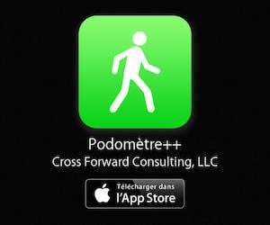 Application de podomètre disponible sur l'App Store