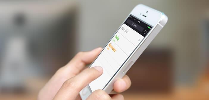 Programmer des rappels localisés sur un smartphone iPhone