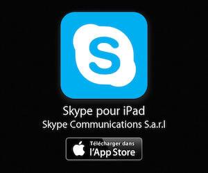 Skype pour iPad disponible sur l'App Store
