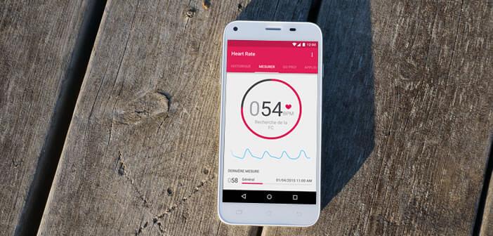 Smartphone Android et moniteur cardiaque