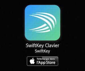 Clavier Swiftkey à retrouver en téléchargement sur l'App Store