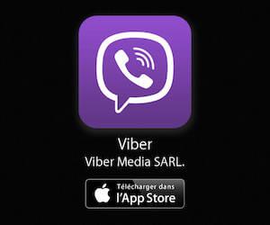 Viber disponible gratuitement sur l'App Store