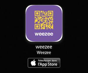 Weezee disponbile en téléchargement sur l'App Store