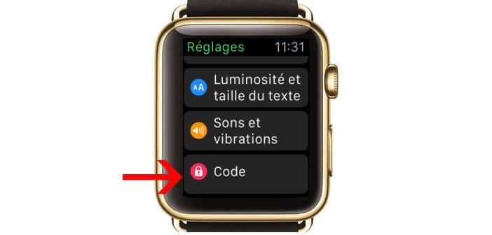 Activer le code de verrouillage sur la montre connectée d'Apple