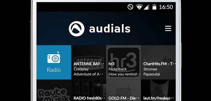 Appli Audials pour écouter les webradios sur Android