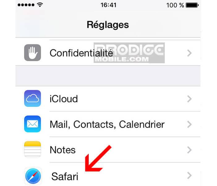 Corriger le bug de Safari sur l'iPhone