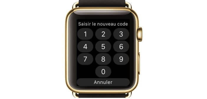 Activer le code de verrouillage de l'Apple Watch