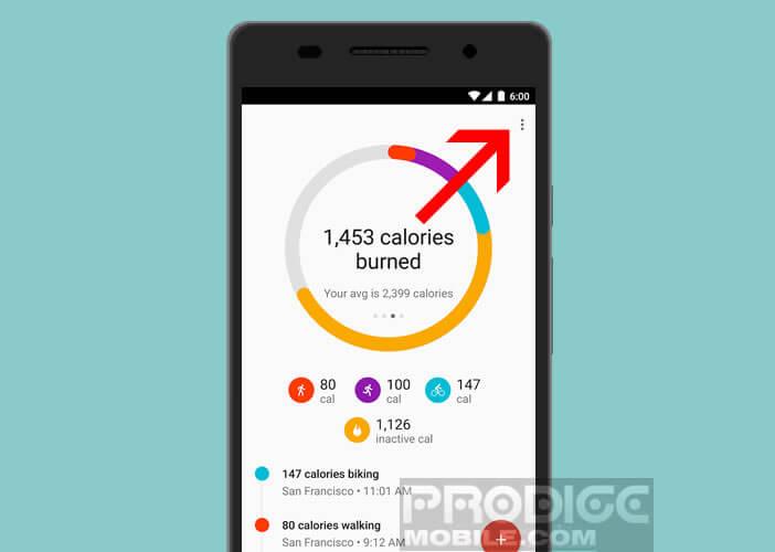 Fixer vos objectifs dans Google Fit