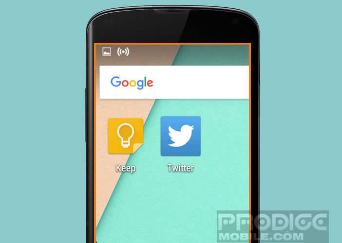 Fonction zoom sur un mobile ou une tablette Android