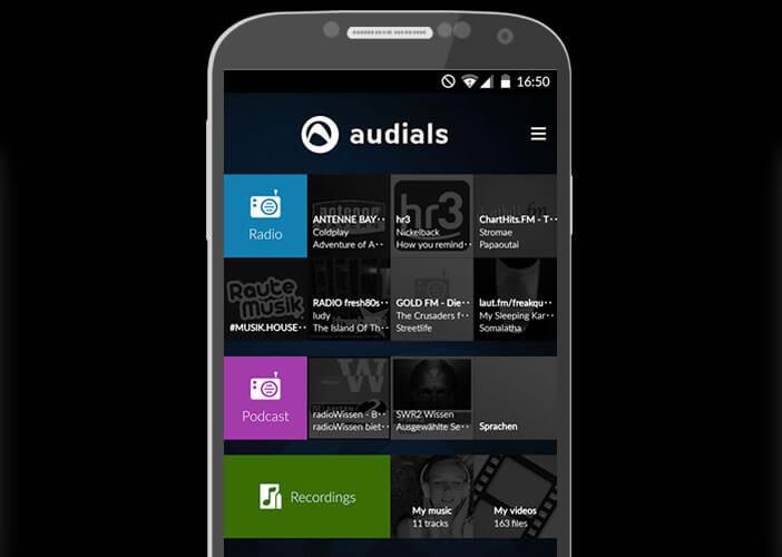 Lancer l'écoute d'une webradio avec l'appli Audials