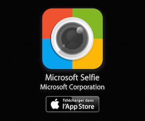 Télécharger sur l'App Store l'application Microsoft Selfie