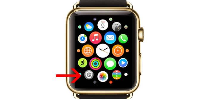 Accéder aux paramètres de l'Apple Watch