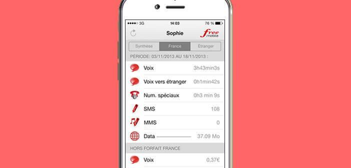 Suivre sa consommation mobile directement depuis un iPhone