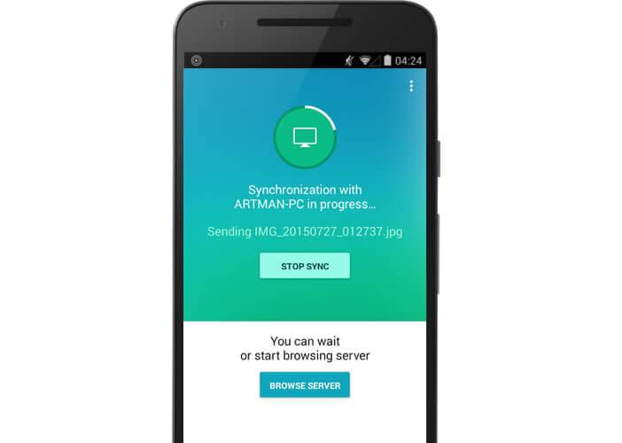 Lancer la synchronisation des données sur votre mobile Android