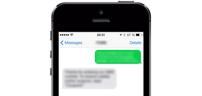 Accusés de réception pour SMS sur l'iPhone