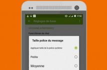 Afficher en gros caractères vos SMS sur Android